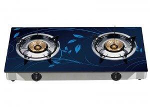 YD-GCG227 Glass Top Two Burner Gas Stove